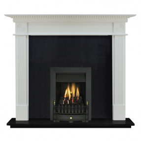 "Ekofires 7060 White Painted 54"" Fireplace Suite"