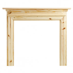 "Ekofires 7070 Unfinished Pine 53"" Fireplace Surround"