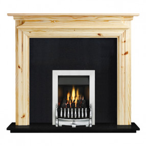 "Ekofires 7070 Unfinished Pine 53"" Fireplace Suite"