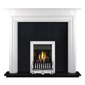 "Ekofires 7070 White Painted 53"" Fireplace Suite"