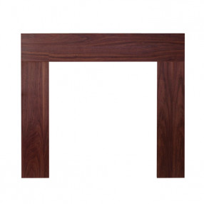 "Ekofires 7080 Walnut Veneer 46"" Fireplace Surround"