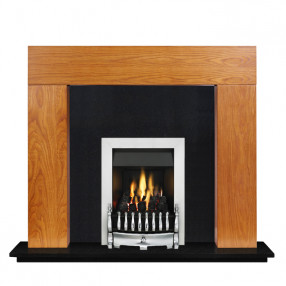 "Ekofires 7080 Oak Veneer 46"" Fireplace Suite"