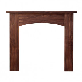 "Ekofires 7090 Walnut Veneer 51"" Fireplace Surround"