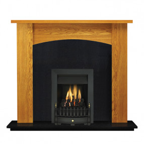 "Ekofires 7090 Oak Veneer 51"" Fireplace Suite"