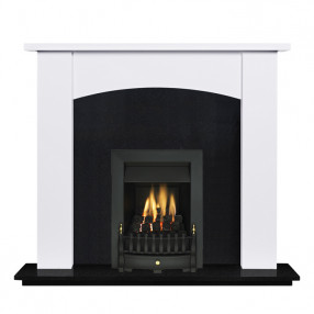 "Ekofires 7090 White Painted 51"" Fireplace Suite"