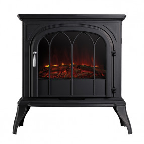 Ekofires 1250 Electric Stove In Black With Arched Door