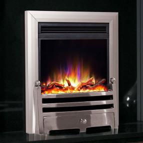Celsi Electriflame XD Bauhaus Electric Fire, Silver