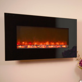 Celsi Electriflame XD 1100 Black Glass Electric Fire