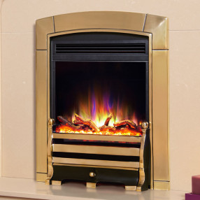 Celsi Electriflame XD Caress Daisy Electric Fire, Brass