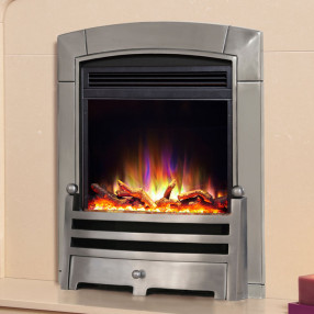 Celsi Electriflame XD Caress Bauhaus Electric Fire, Polished Silver