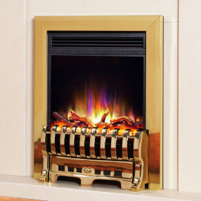 Electriflame XD Royale Electric Fire, Brass