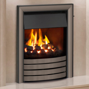 Elgin & Hall Cobalt Devotion Deepline Convector Gas Fire Black/Nickel