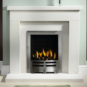 "Gallery Durrington 42"" Limestone Fireplace Suite"