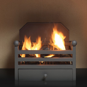 Gallery Elan Fire Basket With Back