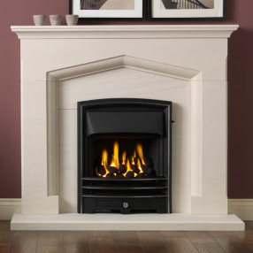 "Gallery Kendal 48"" Limestone Fireplace Suite"