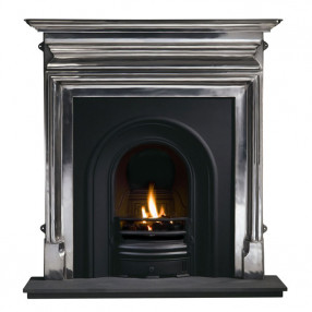 Gallery Palmerston Cast Iron Fireplace with Coronet Cast Iron Arch