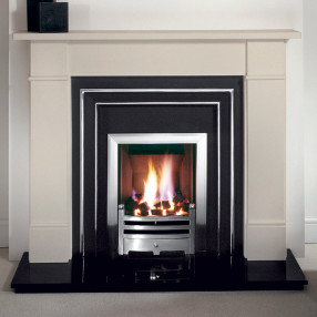 Gallery Brompton Stone Fireplace with Hamilton Cast Iron Fascia