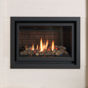 Valor Inspire 600 RC Hole in the Wall Gas Fire with Black Edge Trim