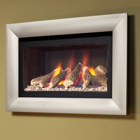 Flavel Jazz Glass Fronted Hole-in-the-Wall HE Gas Fire