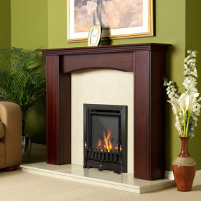 Flavel Kenilworth Inset Gas Fire Black Room Set