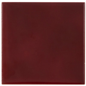 Carron Set of 10 Plain Dark Red Tiles - LGC078