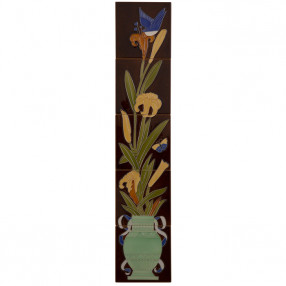 Carron Set of 10 Strip Bird And Flowers Tiles - LGC086