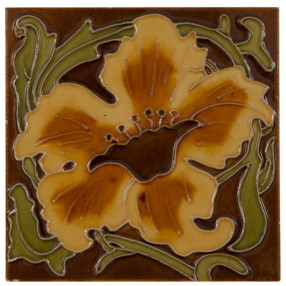 Carron Set of 10 Yellow Flower Tiles - LGC091