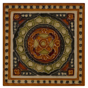Carron Set of 10 Orange and Green Tiles - LGC095