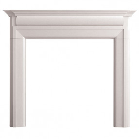 "Gallery Luca 54"" Agean Limestone Fireplace Surround"