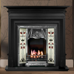 Gallery Palmerston Cast Iron Fireplace with Toulouse Cast Iron Tiled Insert