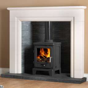"54"" Penman Monza Fireplace with Optional Vega Edge Stove"