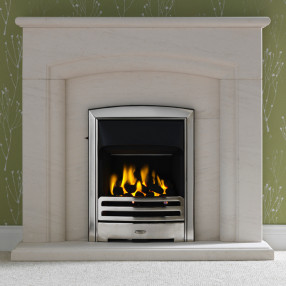 "Gallery New Haven 48"" Limestone Fireplace Suite"
