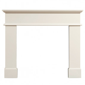 "Gallery Pisa 54"" Ivory Perla Marble Fireplace Surround"