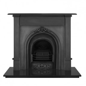 Carron Alice Cast Iron Fireplace with Prince Cast Iron Arch