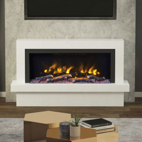"Impero 57"" Marble Fireplace"