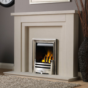 PureGlow Hanley Limestone Fireplace Suite