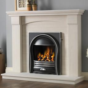 PureGlow Kingsford Limestone Fireplace Suite