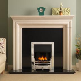 "PureGlow Wenlock 54"" Limestone Fireplace Suite"