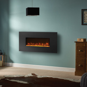 Gazco Radiance 80W Wall Mounted Electric Fire Graphite Room Set
