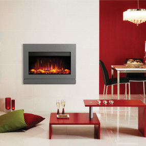 Gazco Riva2 670 Designio2 Electric Fire Iridium Room Set