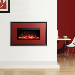 Gazco Riva2 670 Evoke Electric Fire Metallic Red/Graphite