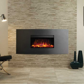 Gazco Riva2 670 Verve Electric Fire Graphite Room Set