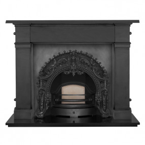 Carron Somerset Cast Iron Fireplace with Rococo Cast Iron Arch
