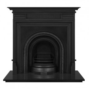 Carron Belgrave Cast Iron Fireplace with Scotia Cast Iron Arch