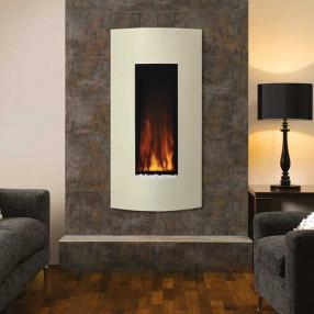 Gazco Studio 22 Wall Mounted Electric Fire Ivory Room Set
