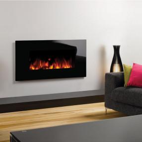 Gazco Studio 2 Wall Mounted Electric Fire Glass Room Set