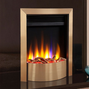 Celsi Ultiflame VR Contemporary Electric Fire Champagne