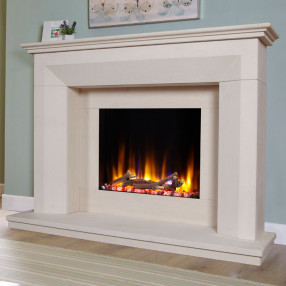 Celsi Ultiflame Lille Limestone Fireplace