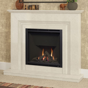 "Elgin & Hall Vamella 52"" Marble Gas Fireplace Suite"