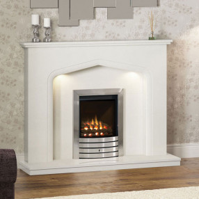Elgin & Hall Verdena Marble Fireplace Suite
